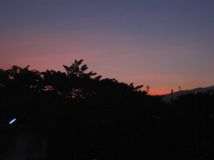 Dusk view from my window