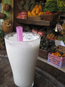 A delicious banana and coconut smoothie