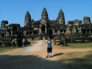 Proof!  Me at Angkor Wat - traveller trousers included