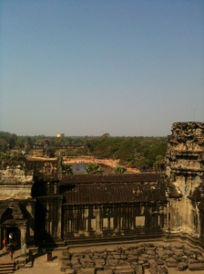 View from the top of Angkor Wat - everything that can be seen is part of the Angkor Wat site