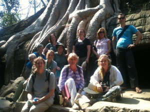 Ta Prohm and my group - spot me!