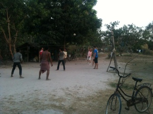 Homestay volleyball at our guide's house