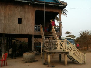 Our homestay with its splendid stone staircase