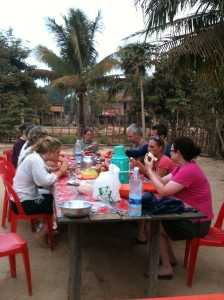 Breakfast at the homestay