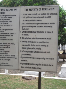 Rules of the S-21 detention centre
