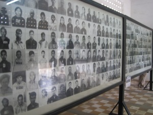 Images of those killed in the Genocide Museum