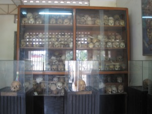 Bones of those from mass graves in the Killing Fields
