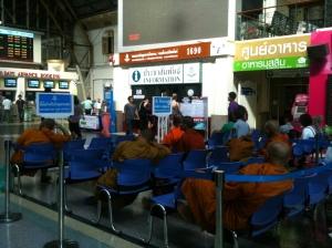 Monk waiting area