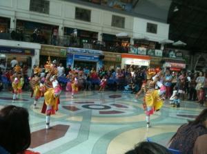 Thai dancers in Bangkok Station
