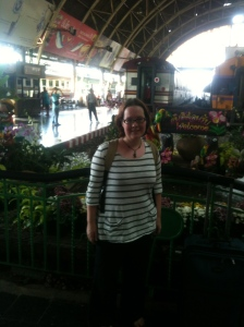 If this was at an airport, I'd be scowling.  Luckily, it's at Bangkok train station so I'm just looking a bit quizzical.