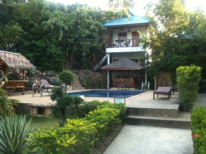The end at the beginning: Outside my Bungalow on Koh Phangan