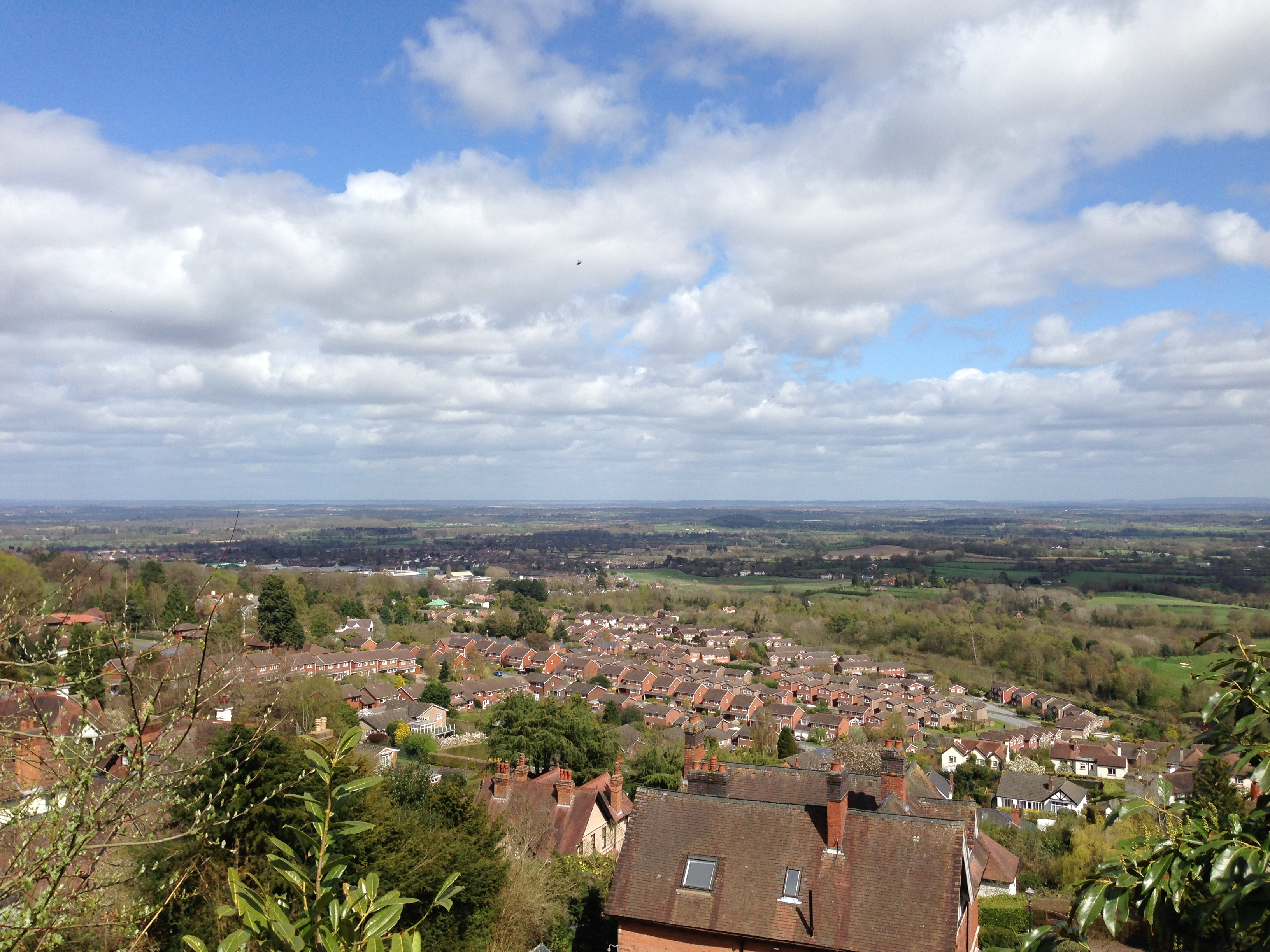 Looking out from Malvern Hills on the nicer day