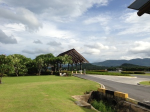 Looking out on the Samui airport runway - so neat and tidy!