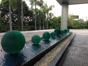 Green balls...more hotel grounds