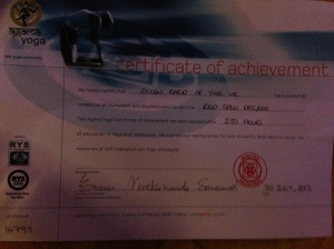Red Sash Certificate