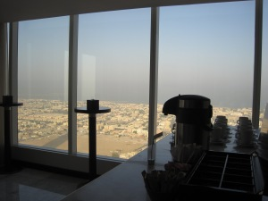 View from the coffee area, 42nd floor, Dubai