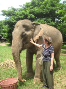Mum and elephant at ENP