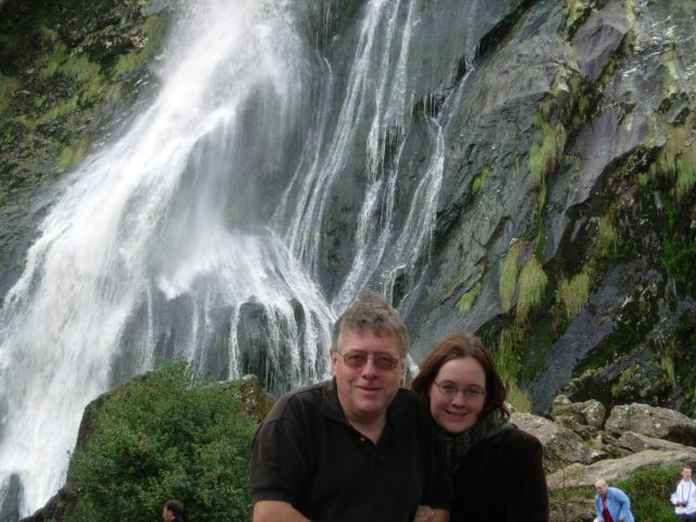 Dad Ellen waterfall
