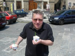 Dad and ice-cream