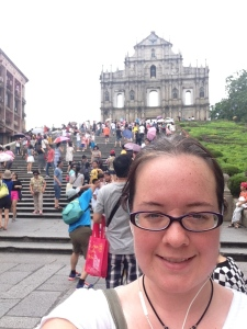 Selfie outside the cathedral