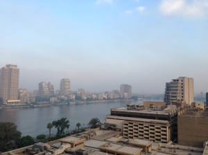 The Nile: View from my room, Conrad Hilton, Cairo